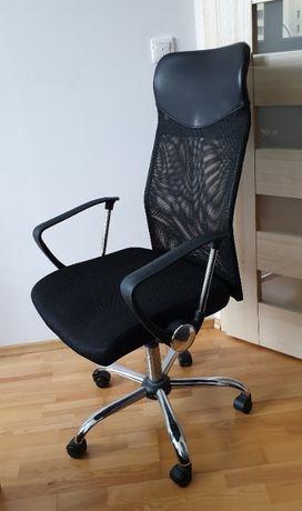 Krzesło biurowe BILLUM czarne fotel obrotowy regulowany do komputera