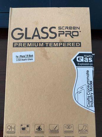 Szkło ochronne Glass Screen PRO+ / iPhone 7/8 Black