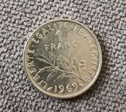 Sprzedam monetę 1 franc 1969 rok