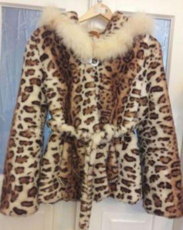 Модная леопардовая шуба