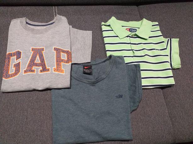 Koszulka chłopięca NIKE,GAP, polo 3 szt 140-146