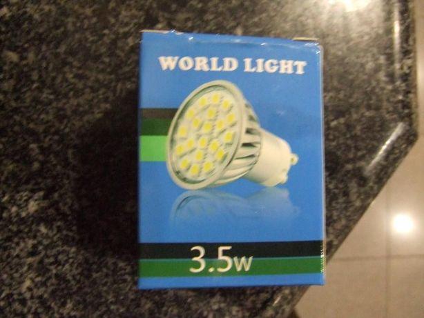 Lampada GU10 Leds smd 3,5w cor 4000 Branco quente