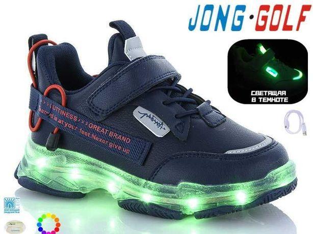Кроссовки 11 режимов подсветки, 7 цветов,с USB тм JongGolf Рры 26- 36