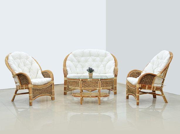Плетеный комплект мебели Копакабана Гиацинт - Софа, 2 кресла, столик