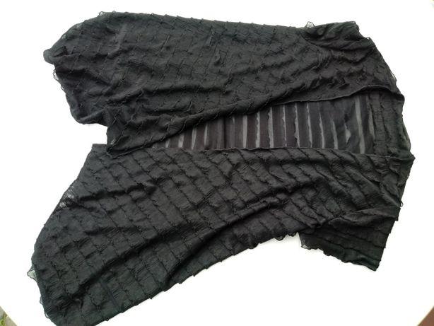Czarna kamizelka bluzka 38 z falbanek