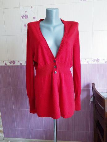 Кашемировый кардиган yorn красный свитер