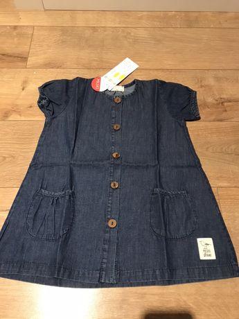 Nowa sukienka jeansowa Pinokio 86 cm