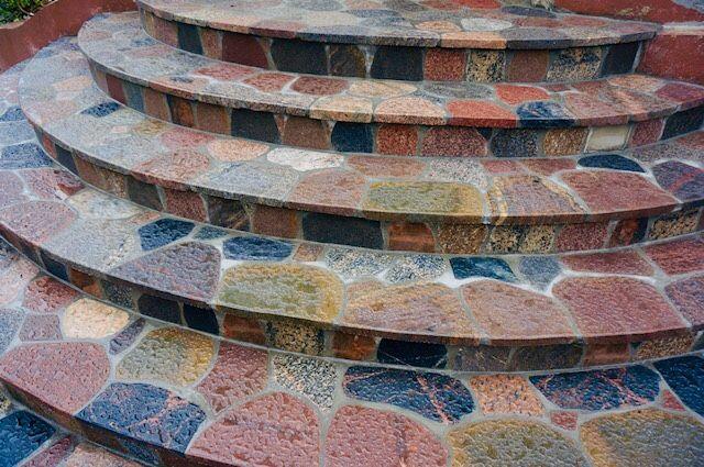 Kamień polny cięty-plastry; tarasy; schody
