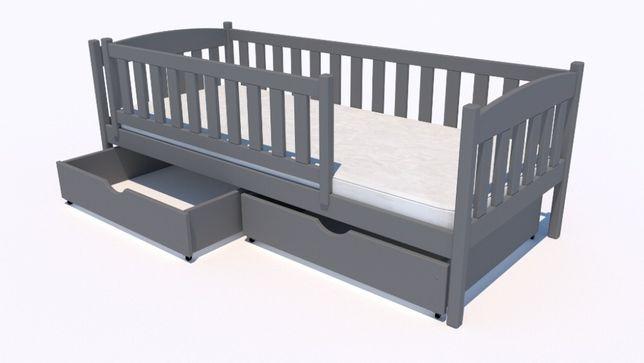 Beti - łóżko dla dziecka + szuflady + barierka + udźwig 150kg