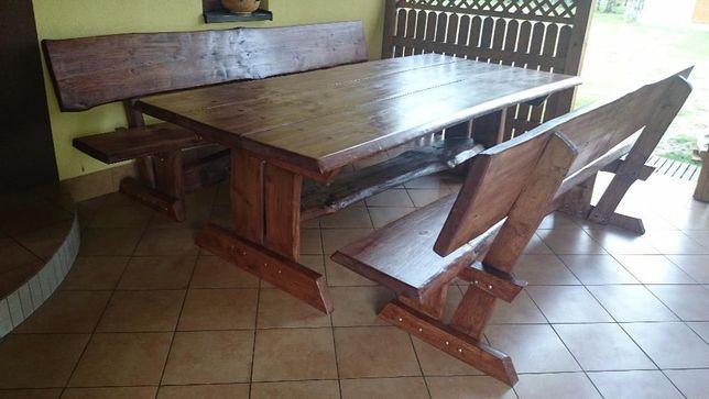 Meble ogrodowe, komplet ogrodowy,stół 4 ławy