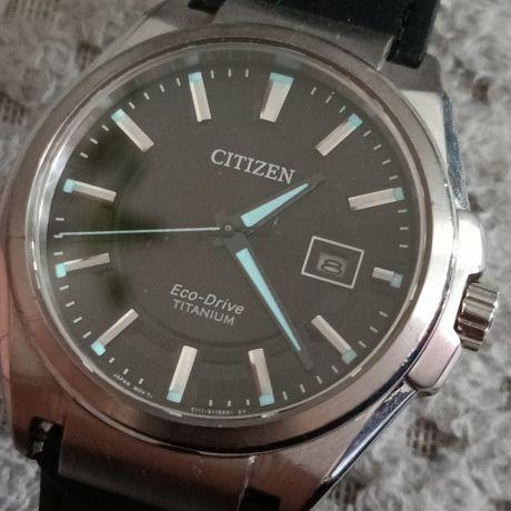 Citizen Eco-Drive Titanium  szafirowe szkiełko elegancki zegarek