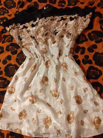 Wspaniała kremowa sukienka w herbaciane róże rozm 40 14 fearne cotton