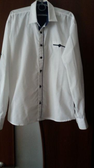 Белая нарядная рубашка на мальчика 9-11 лет