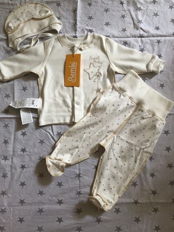 Набор на новорожденного, ползунки, распашонка, чепчик