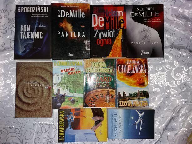 Rogoziński, chmielewska, DeMille, Coelho Dom Tajemnic Alchemik i inne