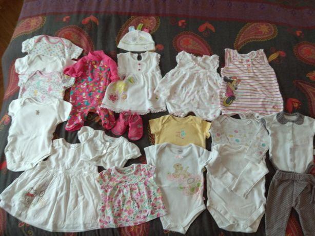 Paka ubrań dla dziewczynki wiosna i lato 62-68