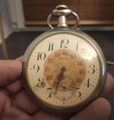 Doxa Antyk 68mm. Zegarek kieszonkowy - Doxa Railroad Pocket Watch