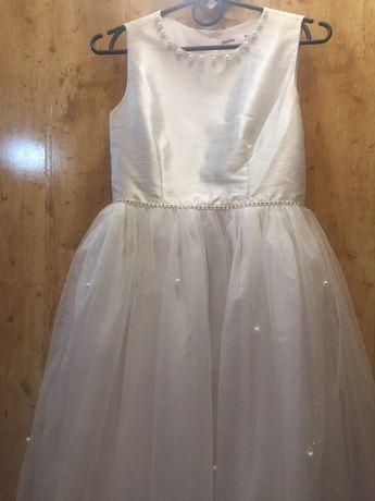 Новое шикарное белое платье на рост 146 см (10-11 лет) - 850 руб.