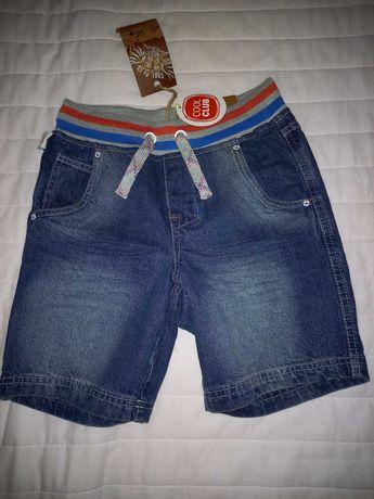 Cool Club nowe spodenki jeansowe na lato 140