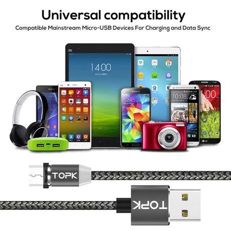 Topk Магнитный кабель,Шнур,Провод, Зарядка USB Micro, Type-C, 8 Pin