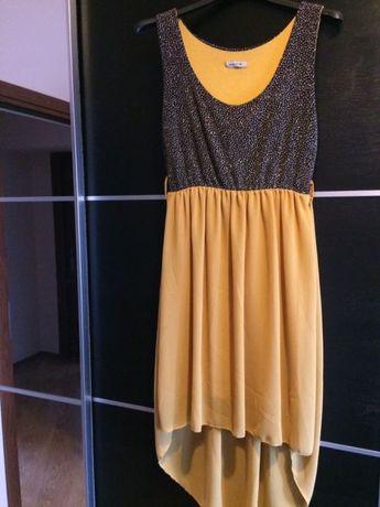 Sukienka złoto-miodowa