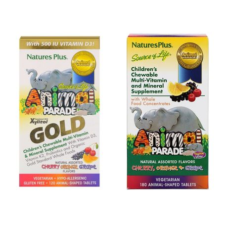 Animal Parade Gold мультивитамины для деток Iherb