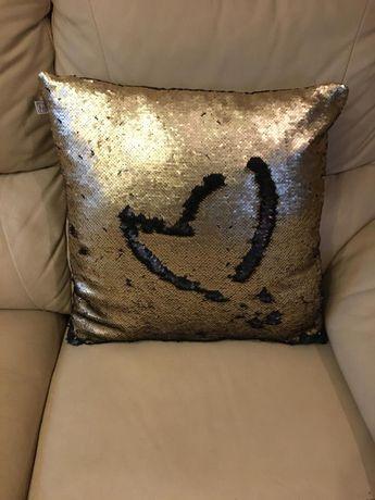 poduszki ozdobne złoto czarne + poszewki 4 szt