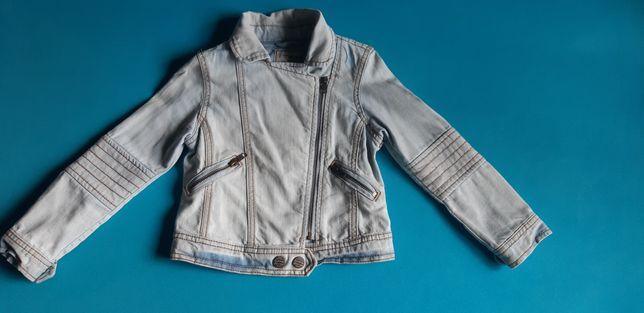 Kurtka dziewczęca jeansowa firmy Next w rozmiarze 116cm