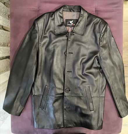 Мужской кожаный пиджак в отличном состоянии 48р(М)