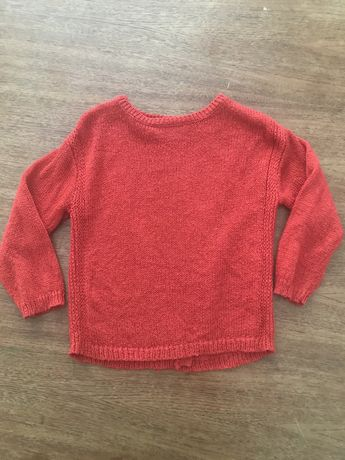Czerwony sweterek Zara r.104