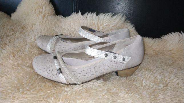 Rieker туфлі 38 р по ст 25 см ширина 8 см каблук 4 см шкіряна устілка