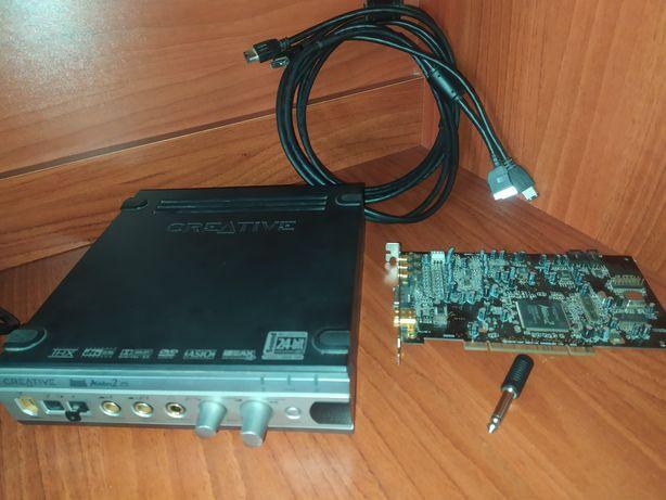 Звуковая карта с внешним блоком Creative Audigy 2 ZS Platinum Pro