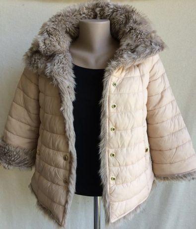 Зимняя меховая куртка для девушки GUEES
