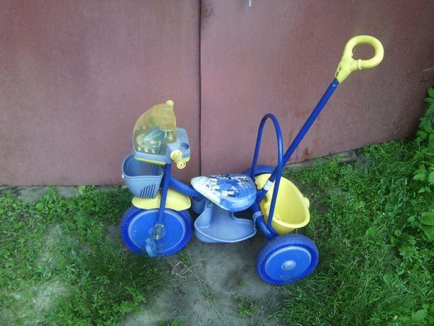 Продам детский 3-х колесный велосипед с родительской ручкой