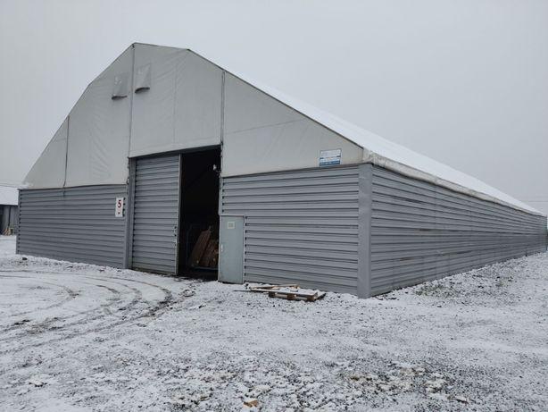 Hala namiotowa aluminiowa 40x20m 800m2 sciany blaszane kubatura 5300m3