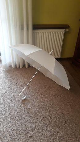 Biała parasolka biały parasol na Komunię na wesele