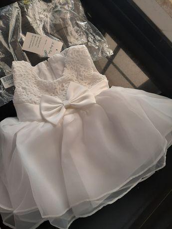Vestido branco cerimónia, comunhão batizado 6 meses NOVO Envio grátis