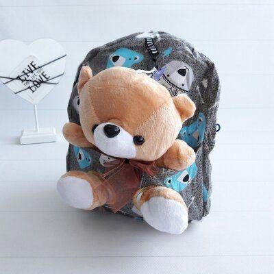 Рюкзак для мальчика с игрушкой Мишутка