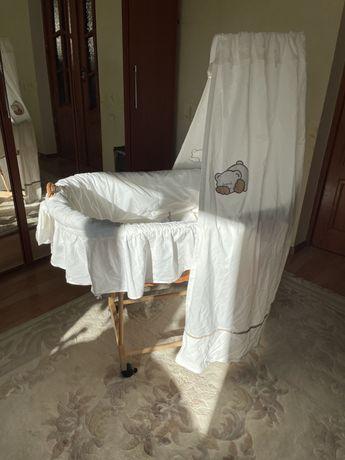 Детская кроватка - люлька ротанг