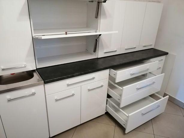 Kuchnia 2,8m, meble kuchenne280cm modułowe front połysk, Cichy domyk