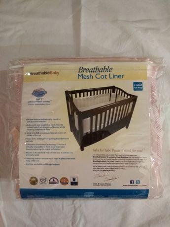 BREATHABLE BABY ochraniacz do łóżeczka nowy