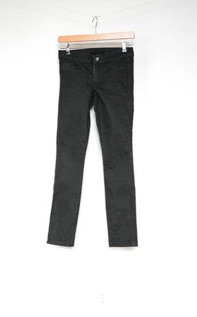 Tezenis Calzedonia szare grafitowe spodnie jeansy brokat 36 S