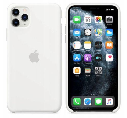 Etui silikonowe pokrowiec iphone 11 PRO białe