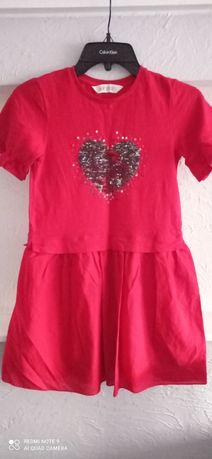 Sukienka czerwona. H&M