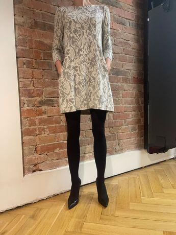 Sukienka żakardowa szara Rylko 36