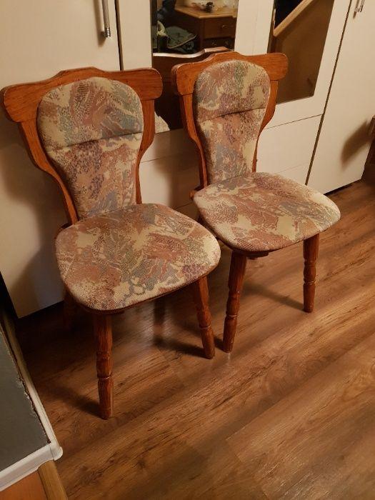 Krzesła drewniane 2 szt Legnica - image 1
