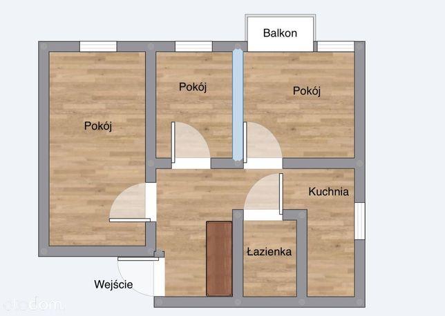 Przestronne mieszkanie 54m² os. Chącińskiego