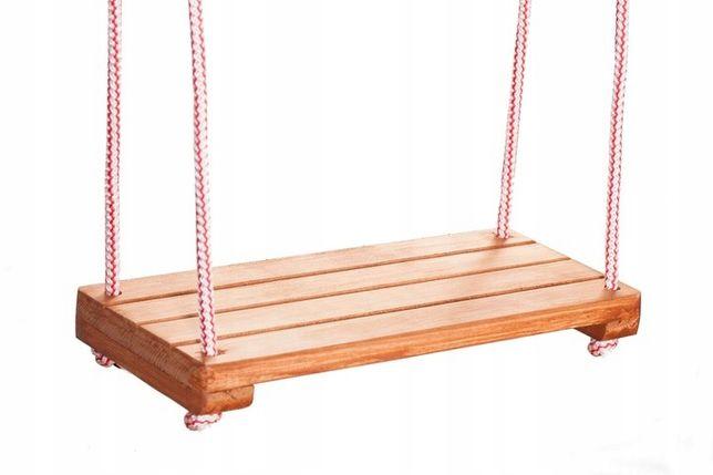 Huśtawka drewniana ogrodowa dla dzieci - DESKA -!