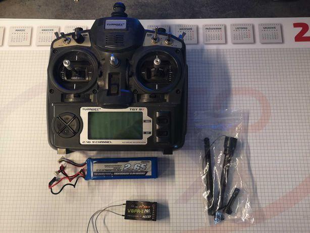 Radio Turnigy TGY9X, telemetria Frsky DJT, 2 baterie, ładowarka.