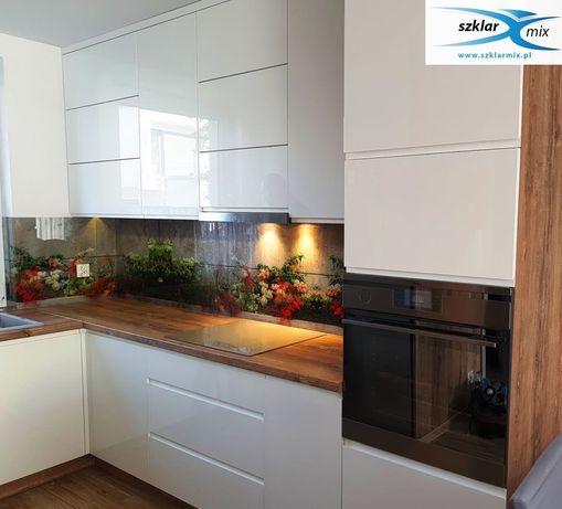 Szkło z grafiką , panel szklany do kuchni , lacobel , szkło drukowane